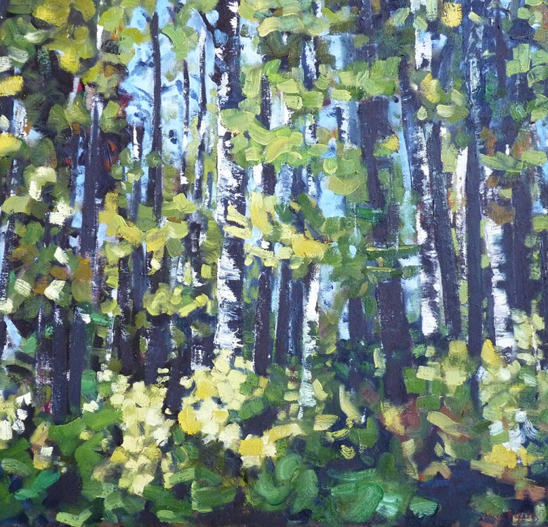 Into the woods – recent woodland paintings